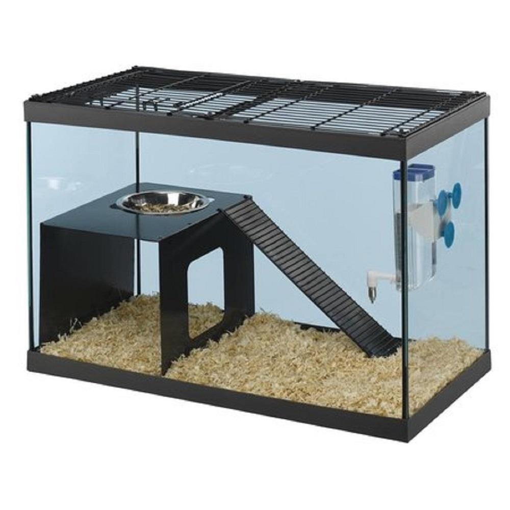 Tanque de vidrio como jaulas para hásmter