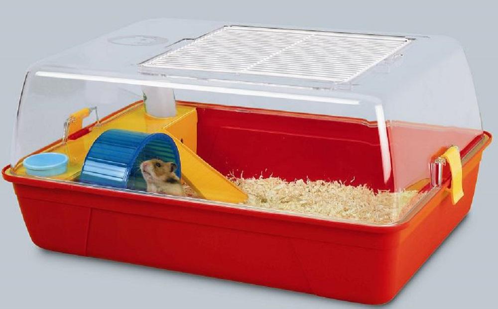 jaula para hamsters de plastico